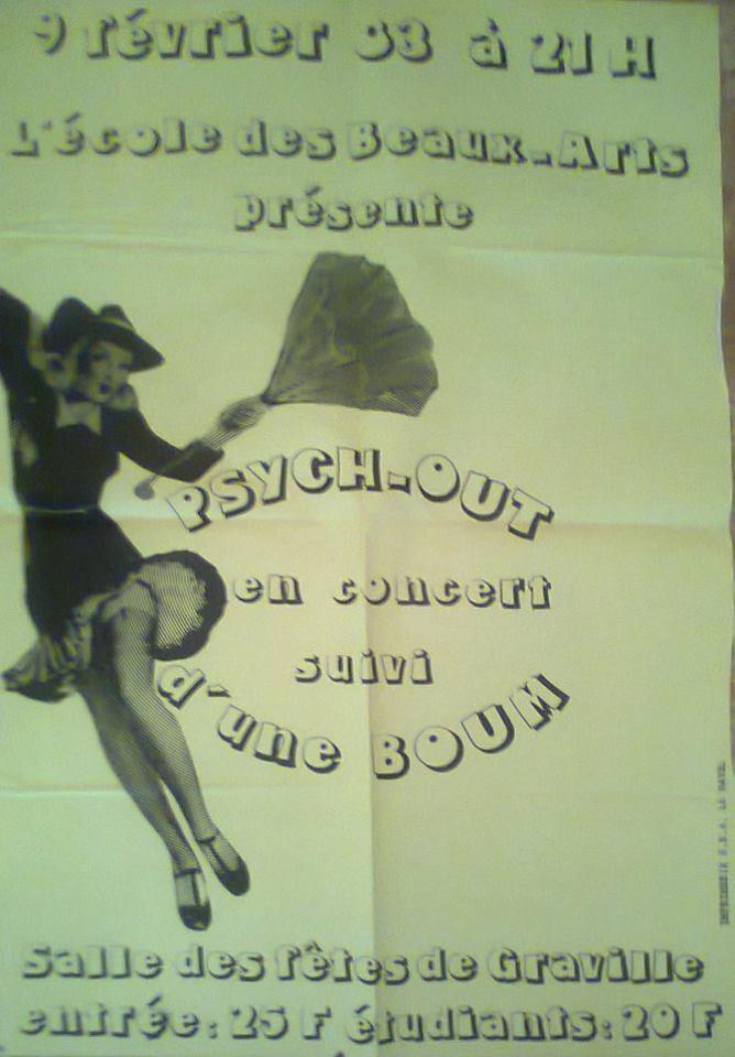 """9 février 1983 Psych Out au Havre """"Salle des Fetes de Graville"""""""