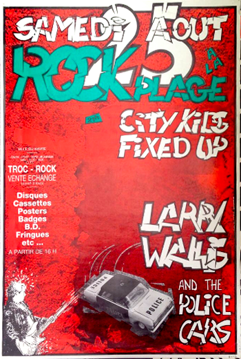 25 aout 1984 City Kids, Fixed Up, Larry Wallis and The Police Cars au Havre