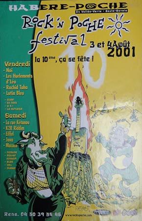 3 aout 2001 Noi, Les Hurlement de Léo, Rachid Taha, Lutin Bleu à Habere Poche