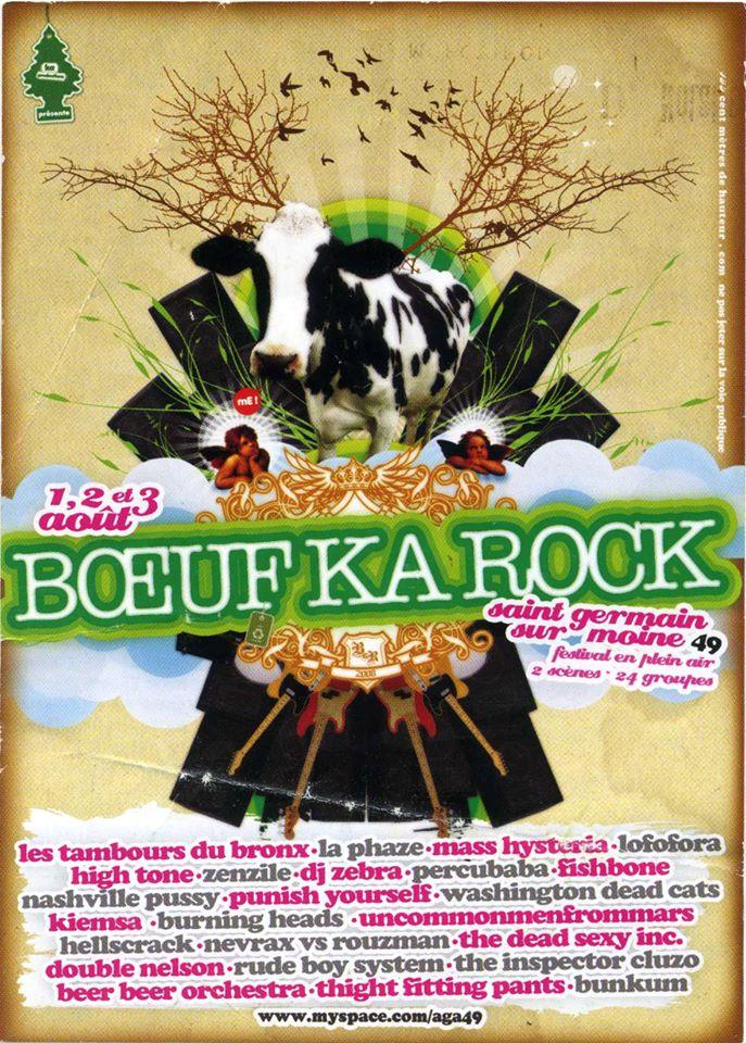 1er aout 2008 Les Tambours du bronx, High Tone, Kiemsa, Punish Yourself, Uncommonmenfrommars, Nevrax VS Rouzman, Double Nelson, Tight fitting pants à Saint Germain Sur Moine