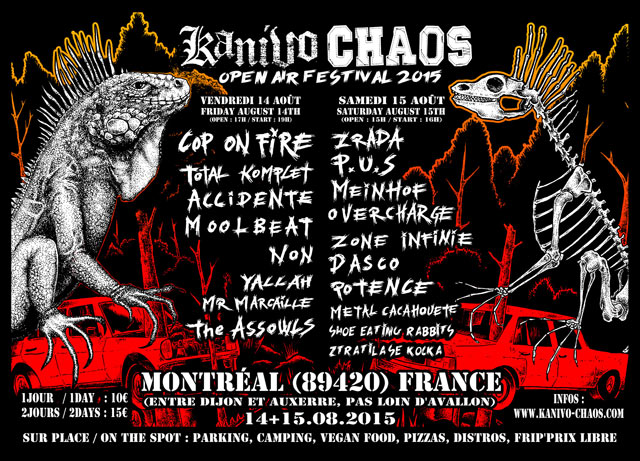 14 aout 2015 Cop On Fire, Total Komplet, Accidente, Moolbeat, Non, Yallah,  Mr Marcaille,  The Assowls à Montreal