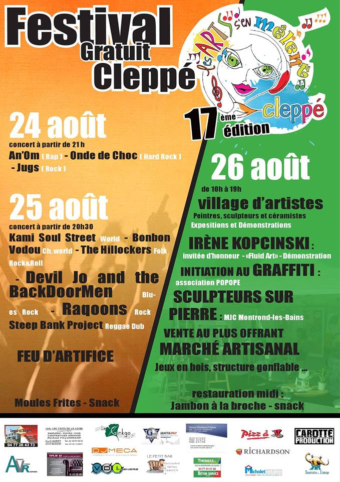 25 aout 2018 Kami Soul Street, Bonbon Vodou, The Hillockers, Devil Jo & The Backdoormen, Raqoons, Steep Bank Project  à Cleppé
