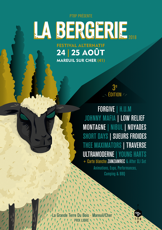 25 aout 2018 Tippex, Isn'tses, Blanc Sceol, Simon de Wildfrid, Mix Glace, Johnny Mafia, Montagne, Sueurs froides, Short days, Thee Maximators, Traverse,  Ultramoderne à Mareuil Sur Cher