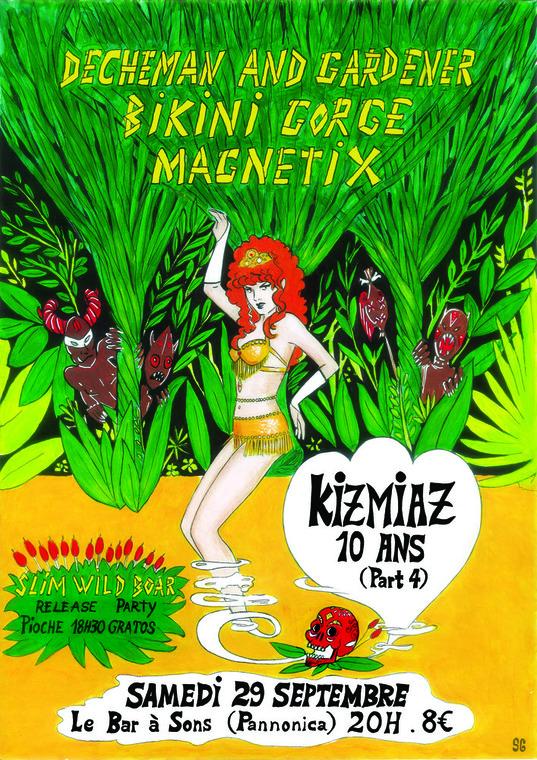 "29 septembre 2018 Slim Wild Bar, Magnetix, Decheman & Gardener, Bikini Gorge à Nantes ""Bar à Sons"""