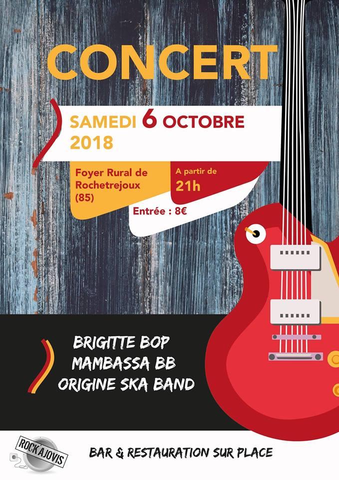 6 octobre 2018 Brigitte Bop, Mambassa Blouz Band, Origine Ska Band à Rochetrejoux