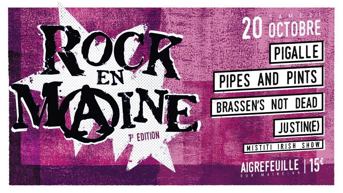 """20 octobre 2018 Pigalle, Pipes and Pints, Brassen's Not dead, Justin(e) à aigrefeuille Sur Maine """"Salle des Richardieres"""""""