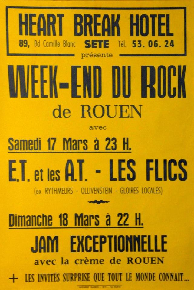 """17 mars 1984 ET et les AT, les Flic à Sete """"Heart Break Hotel"""""""