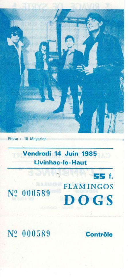 14 juin 1985 les Dogs, Flamingos à Livinhac le Haut