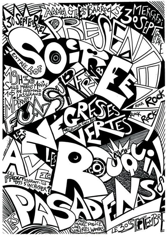 """30 septembre 1987 Fun Surf, les Negresses Vertes, Les Rouquins, les Pasadenas à Paris """"Salle Marius Magnin"""""""