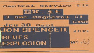 """30 septembre 1993 Jon Spencer Explosion à Lyon """"Exit"""""""