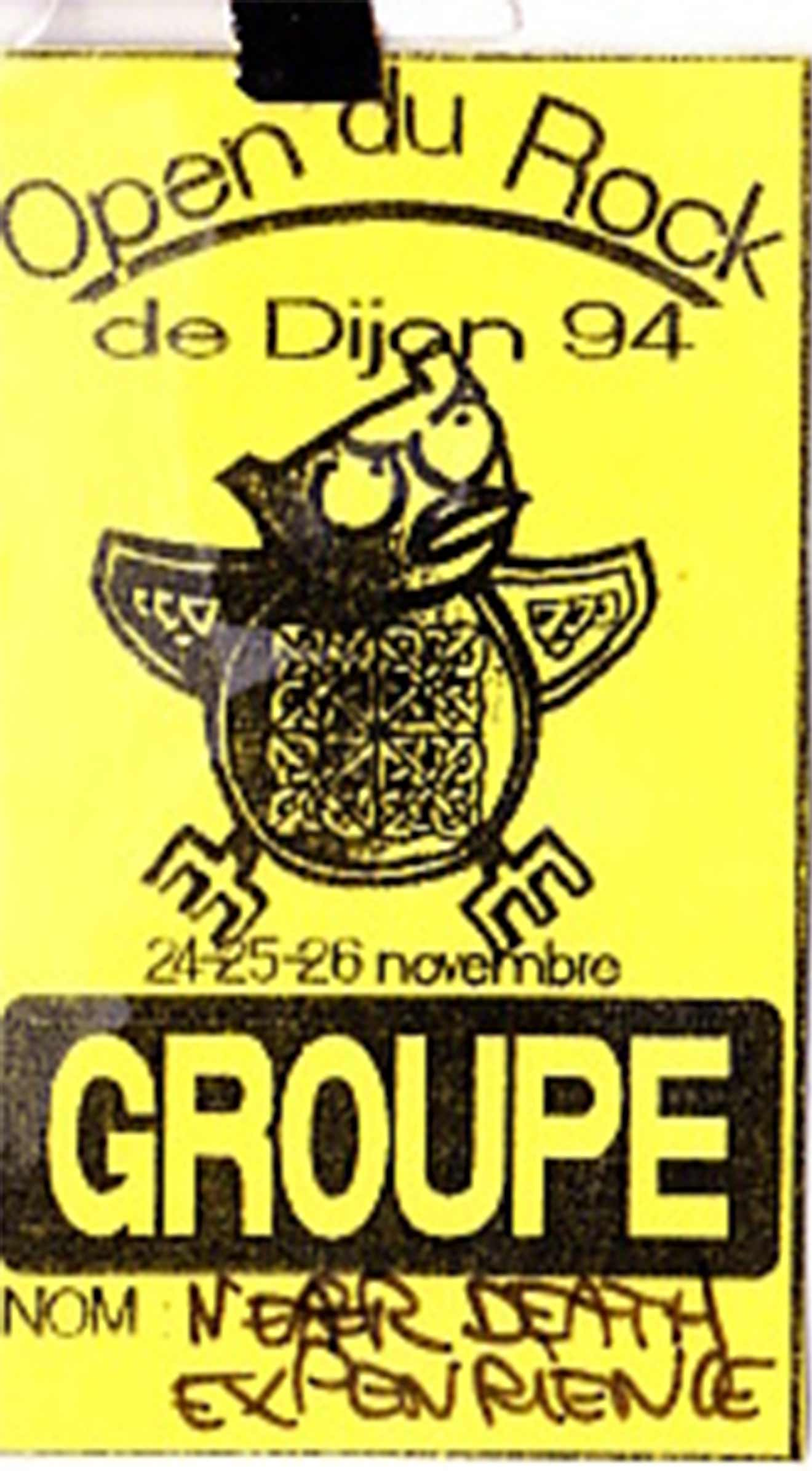 novembre 1994 IAM, Near Death Experience à Dijon / Open du Rock (par expo) (+ IAM) (pass inclus)