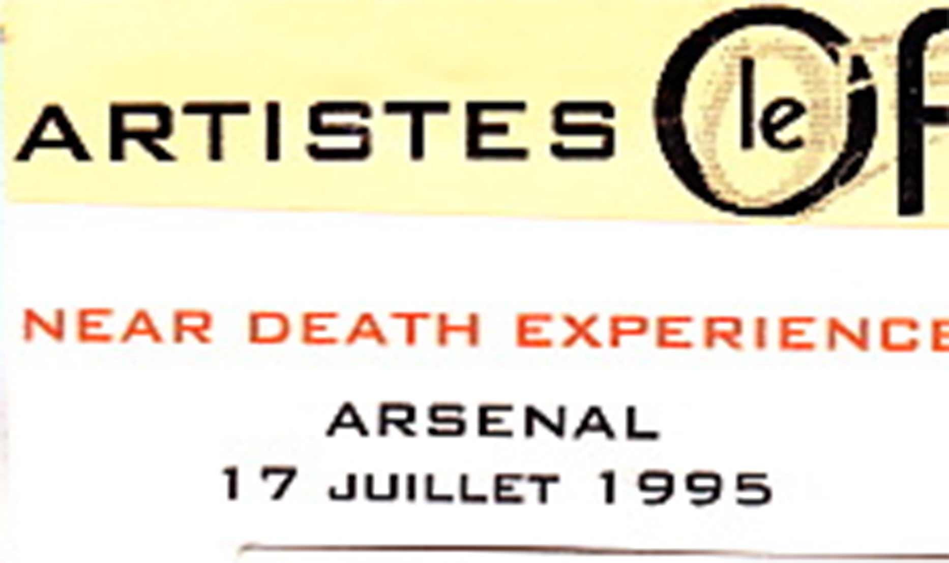"""17 juillet 1995 Near Death Experience à La Rochelle """"Arsenal"""""""
