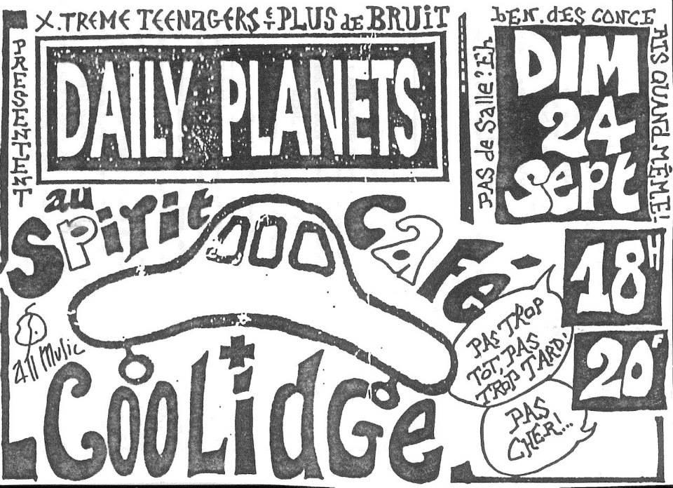 """24 septembre 1995 Daily Planets, Coolidge au Havre """"Spirit Café"""""""