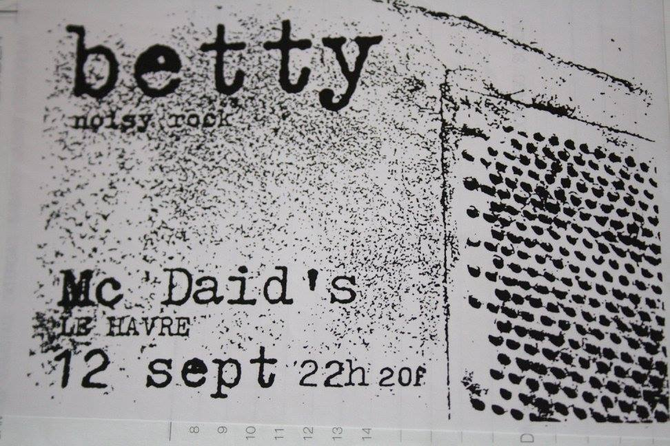 "12 septembre 1998 Betty au Havre ""Mc Daid's"""