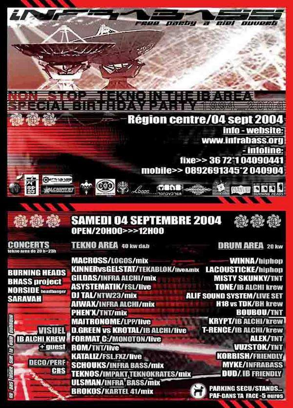 4 septembre 2004 Burning Heads, Bhass Project, Norside, Saravah à Tour En Sologne