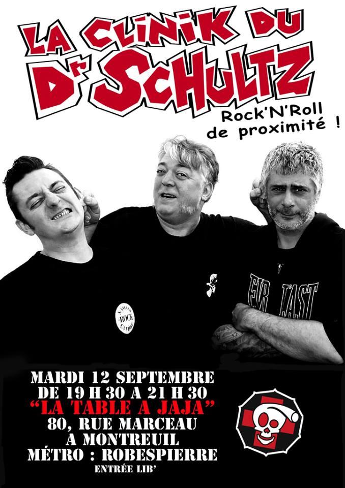 """12 Septembre 2006 la Clinik du Dr Schultz à Montreuil """"la Table à Jaja"""""""