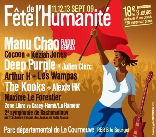 septembre 2009 Cocoon, Deep Purple, Julien Clerc, Arthur H, The kooks, Alexis HK, Maxime le Forestier à La Courneuve