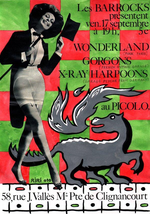 """17 septembre 2010 Wonderland, Gorgons, X-Ray Harpoons à Saint Ouen """"Picolo"""""""