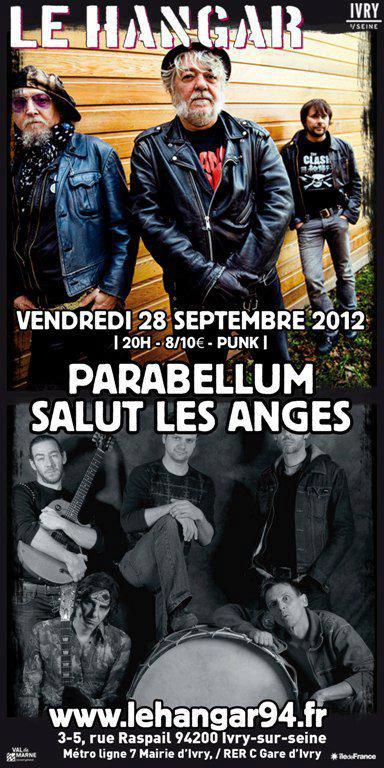 """28 septembre 2012 Parabellum, Salut les Anges à Ivry Sur Seine """"le Hangar"""""""