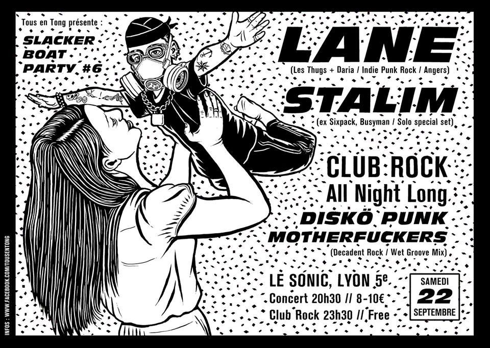 "22 septembre 2018 Lane, Stalim à Lyon ""le Sonic"""
