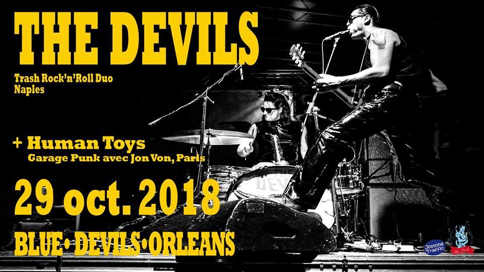 """29 octobre 2018 The Devils, Human Toys à Orléans """"Blue Devils"""""""