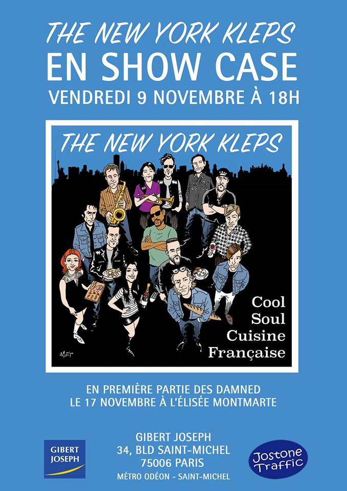 "9 novembre 2018 New York Kleps à Paris ""Gibert Joseph"""