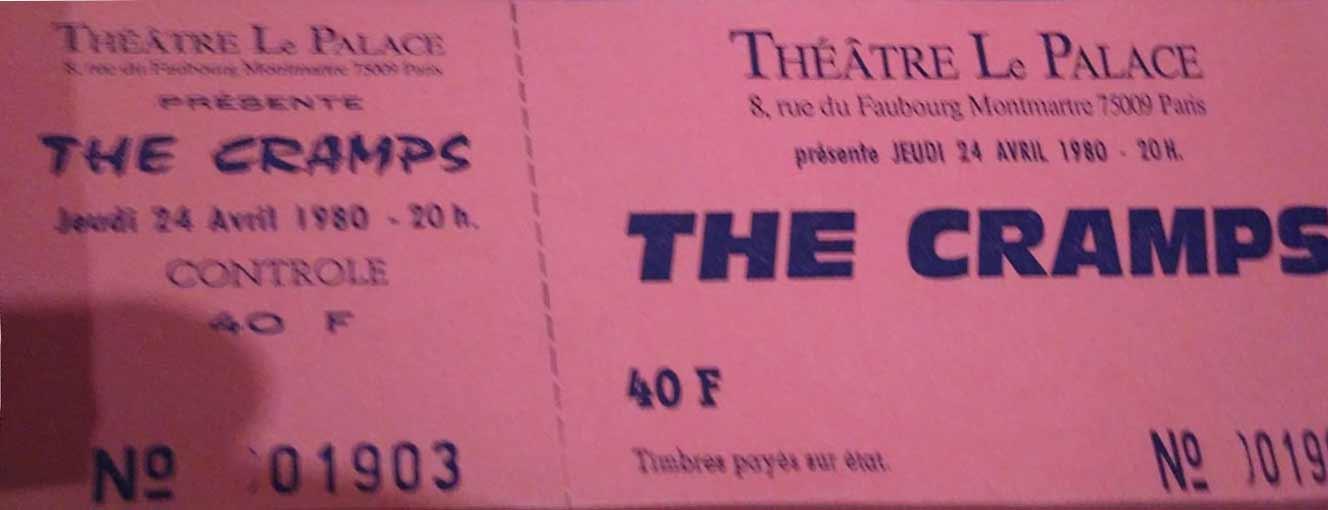"""24 avril 1980 The Cramps à Paris """"le Palace"""""""