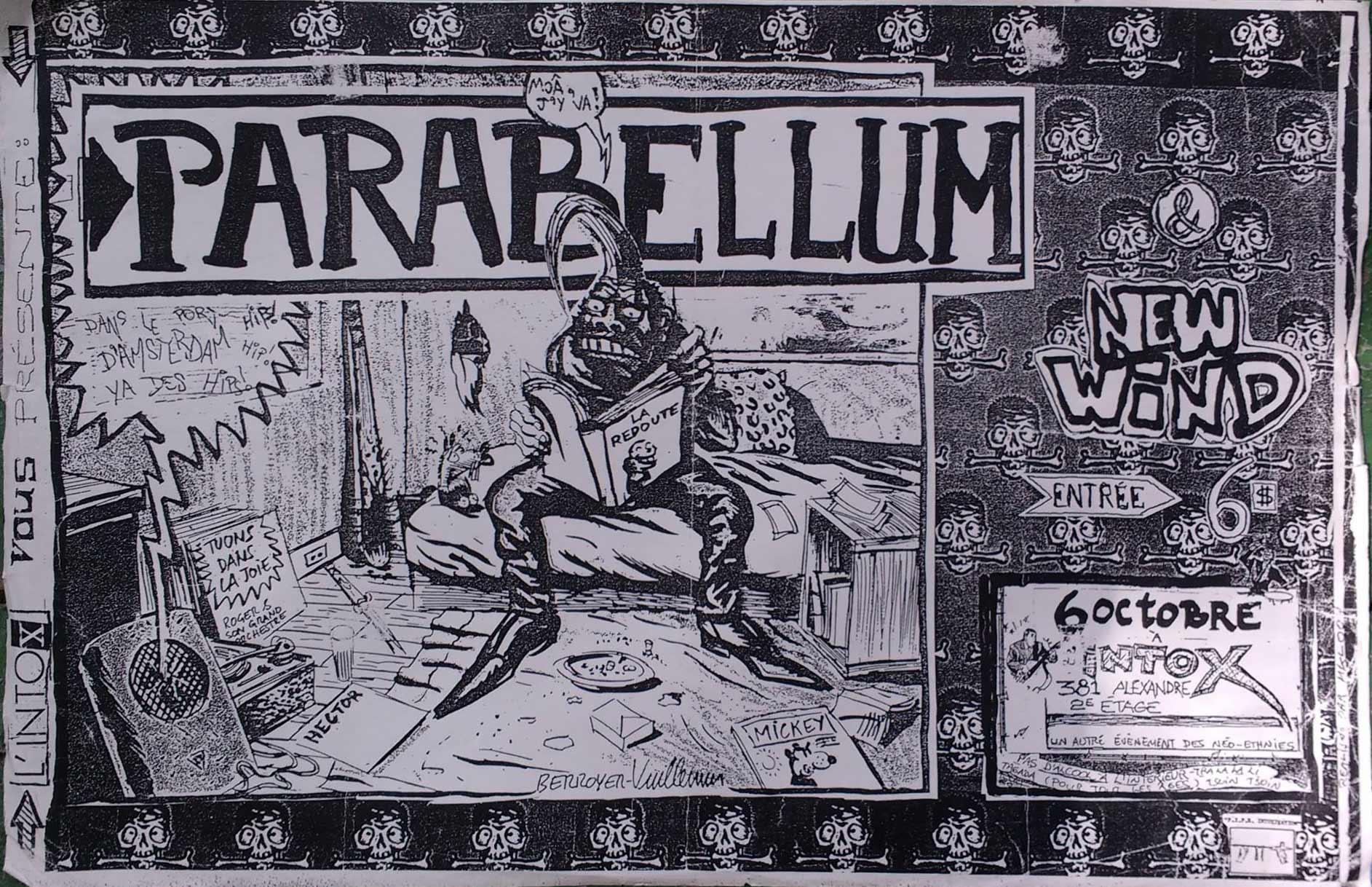 """6 octobre 1989 Parabellum, New Wind à Sherbrooke """"l'intox"""""""