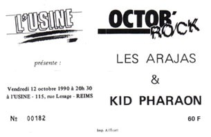 12 octobre 1990 les Arajas, Kid Pharaon à Reims