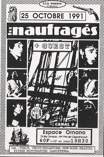 """25 octobre 1991 Les Naufragés à Paris """"Espace Ornano"""""""