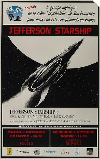 "3 octobre 1995 Jefferson Starship au Havre ""le Volcan"""