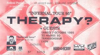 """7 octobre 1995 Therapy à Villeurbanne """"le Transbordeur"""""""