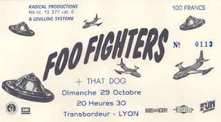 "29 octobre 1995 Foo Fighters, That Dog à Villeurbanne ""Transbordeur"""