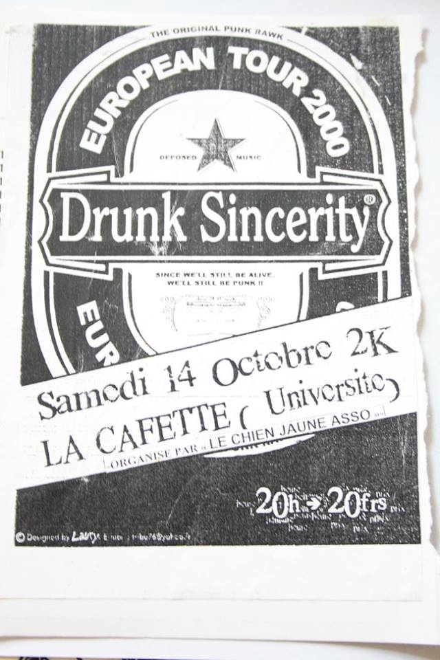 "14 octobre 2000 Drunk Sincerity au Havre ""la Cafette"""