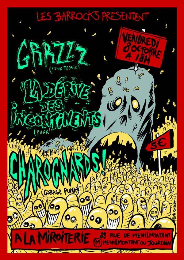 """8 octobre 2005 (?) Grrzz, La Dérives des Incontinents, Charognards à Paris """"la Miroiterie"""""""