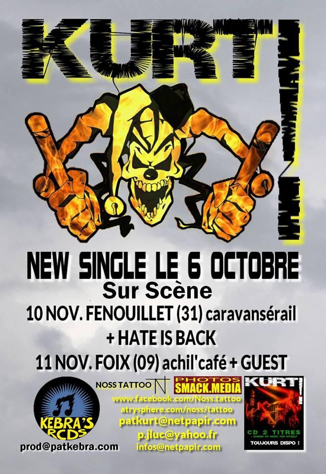 """10 Novembre 2007 Kurt, Hate Is Black à Fenouillet """"Caravanserail"""""""