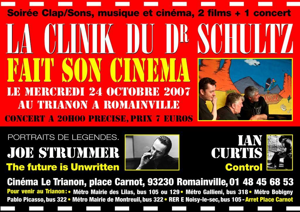 """24 octobre 2007 La Clinik Du Dr Schultz à Romainville """"Au Trianon"""""""