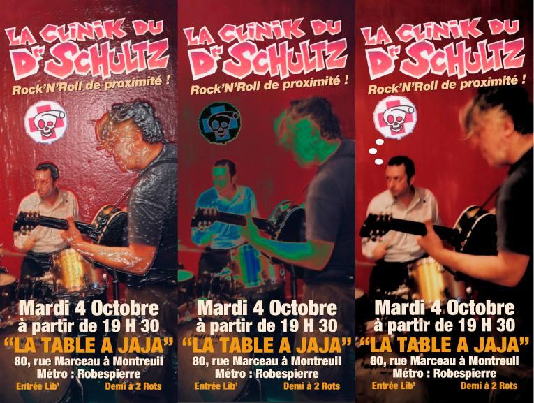 """4 octobre 2011 La Clinik du Dr Schultz à Montreuil """"La Table à Jaja"""""""