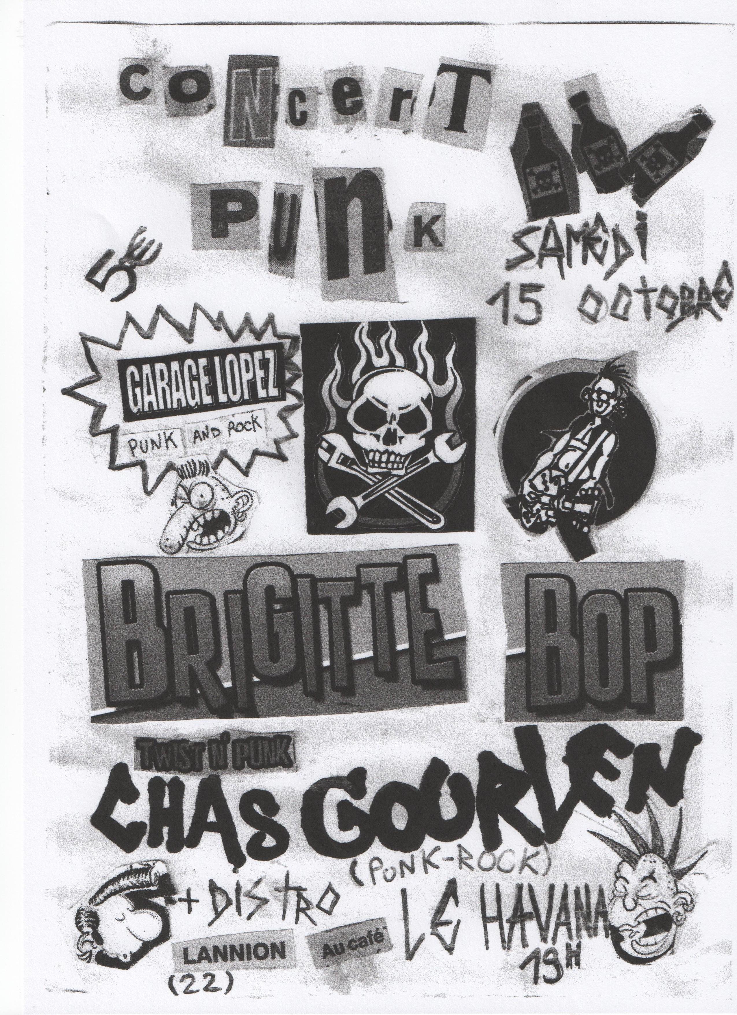 """15 octobre 2011 Garage Lopez, Brigitte Bop, Chas Gourlen à Lannion """"Le Havana"""""""