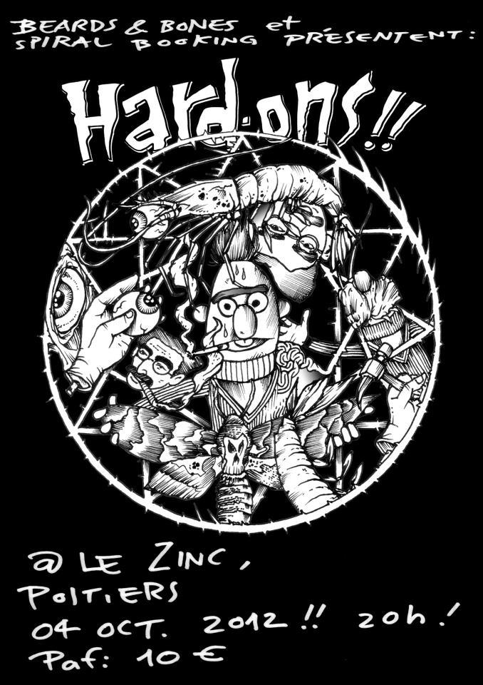 """4 octobre 2012 Hard Ons à Poitiers """"Le Zinc"""""""