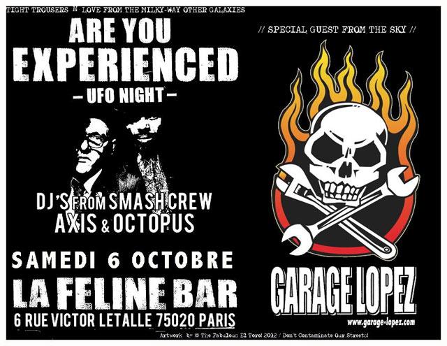 """6 octobre 2012 Garage Lopez à Paris """"la Feline"""""""