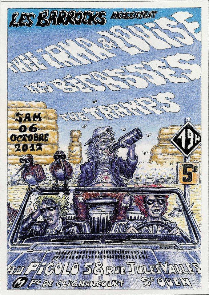 """6 octobre 2012 Thee Irma & Louise, Les Bécasses, The Tramps à Saint Ouen """"Picolo"""""""