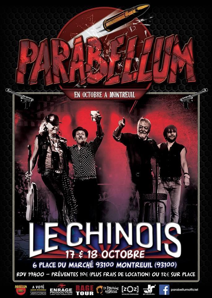 """17 octobre 2014 Parabellum à Montreuil """"le Chinois"""""""