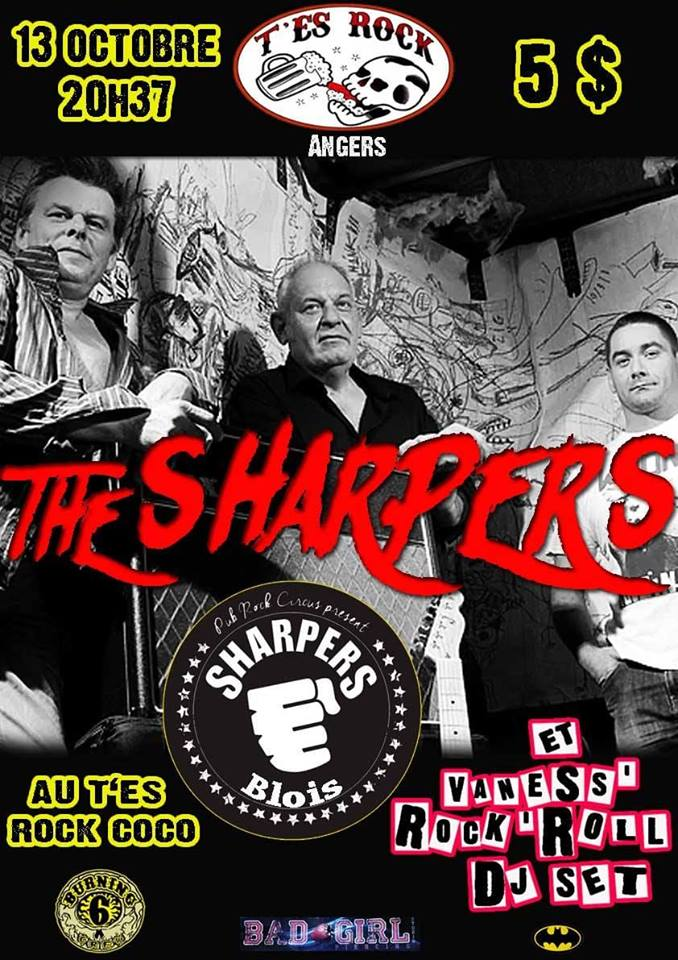 "13 octobre 2018 Sharpers à Angers ""T'es Rock Coco"""
