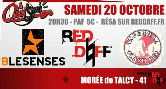 20 octobre 2018 Red Daff, Blesenses, Infernal Flash Pep à Morée de Talcy