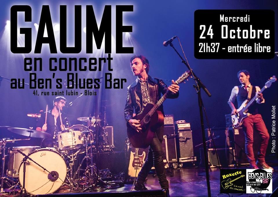 """24 octobre 2018 Gaume à Blois """"Ben's Blues Bar"""""""