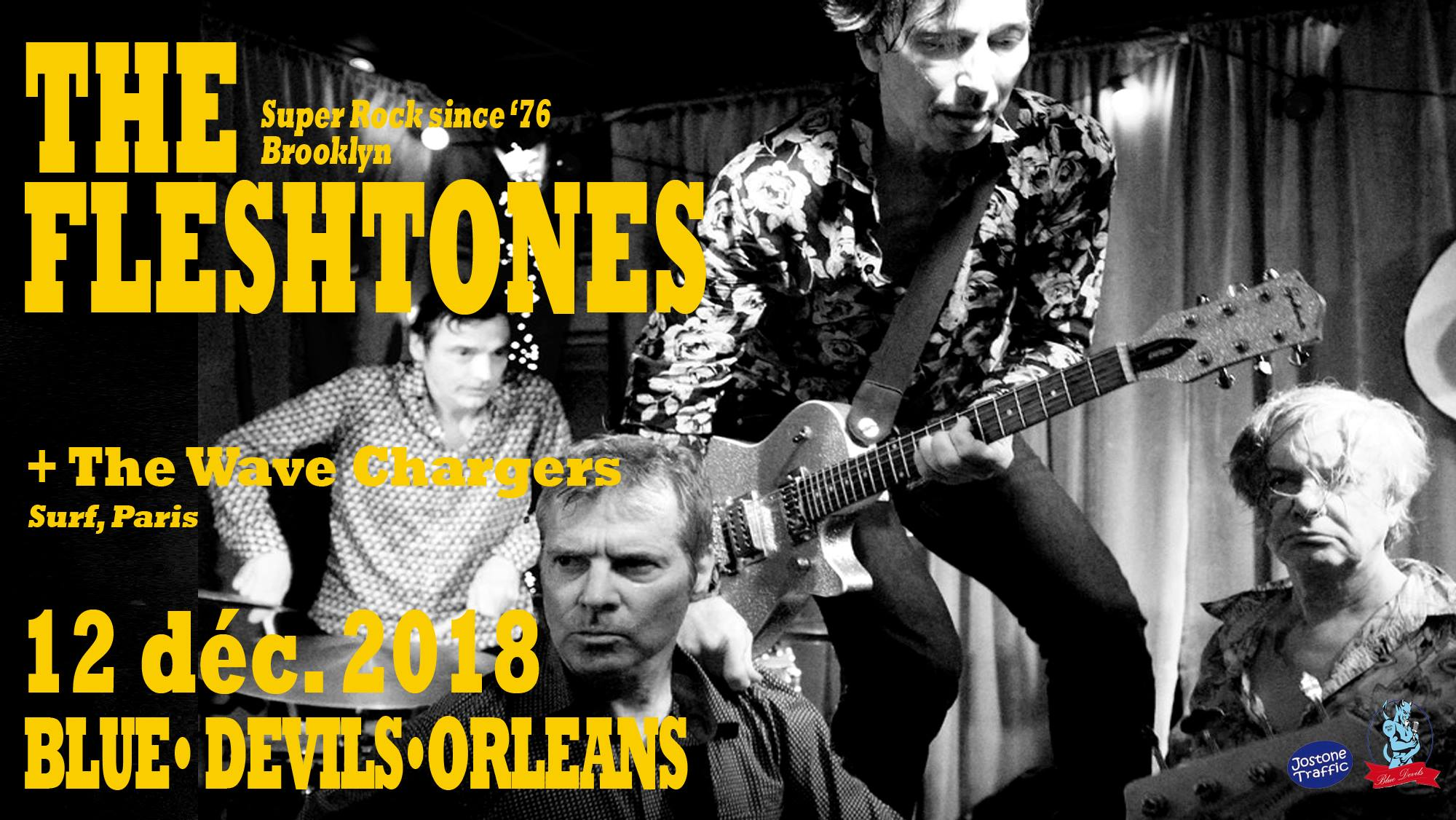 "12 decembre 2018 The Fleshtones, The Waves Chargers à Orléans ""Blue Devils"""