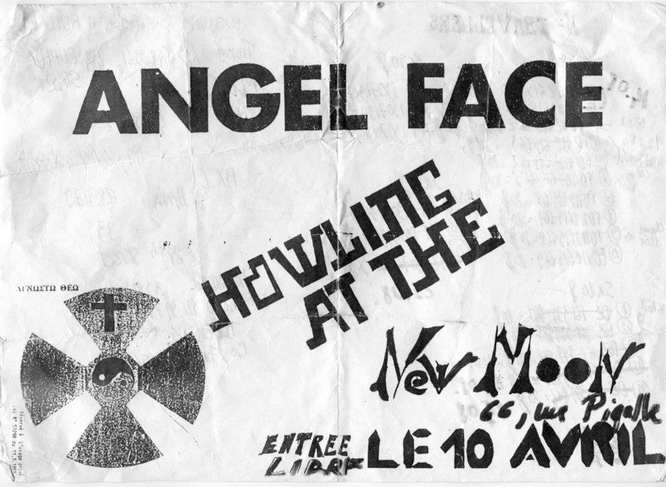 "10 avril 1987 Angel Face, Howling At The à Paris ""New Moon"""