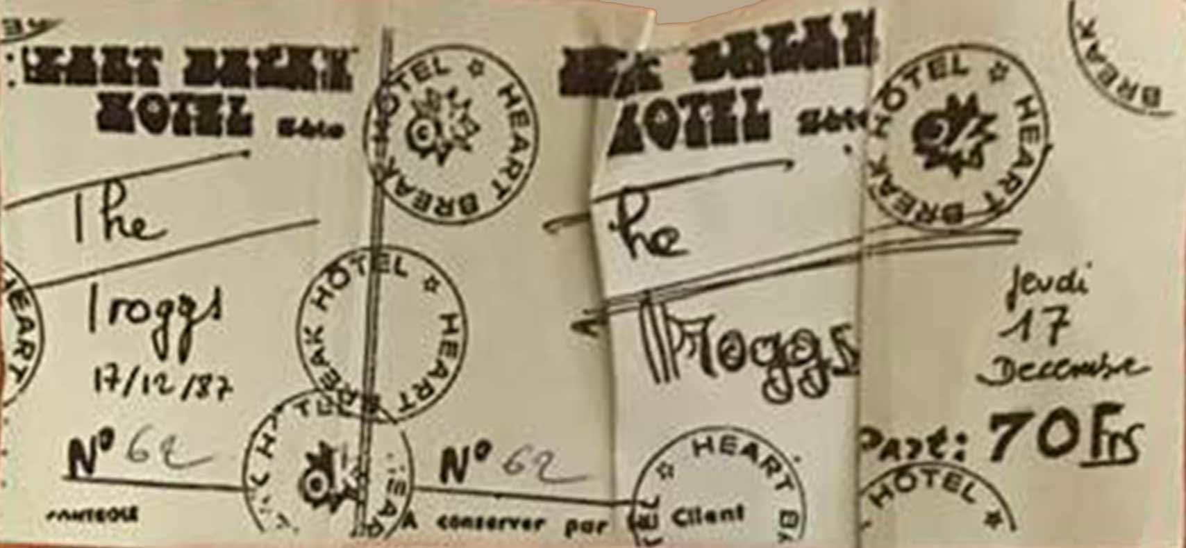 """17 décembre 1987 Troggs à Sete """"HeartBreak Hotel"""""""