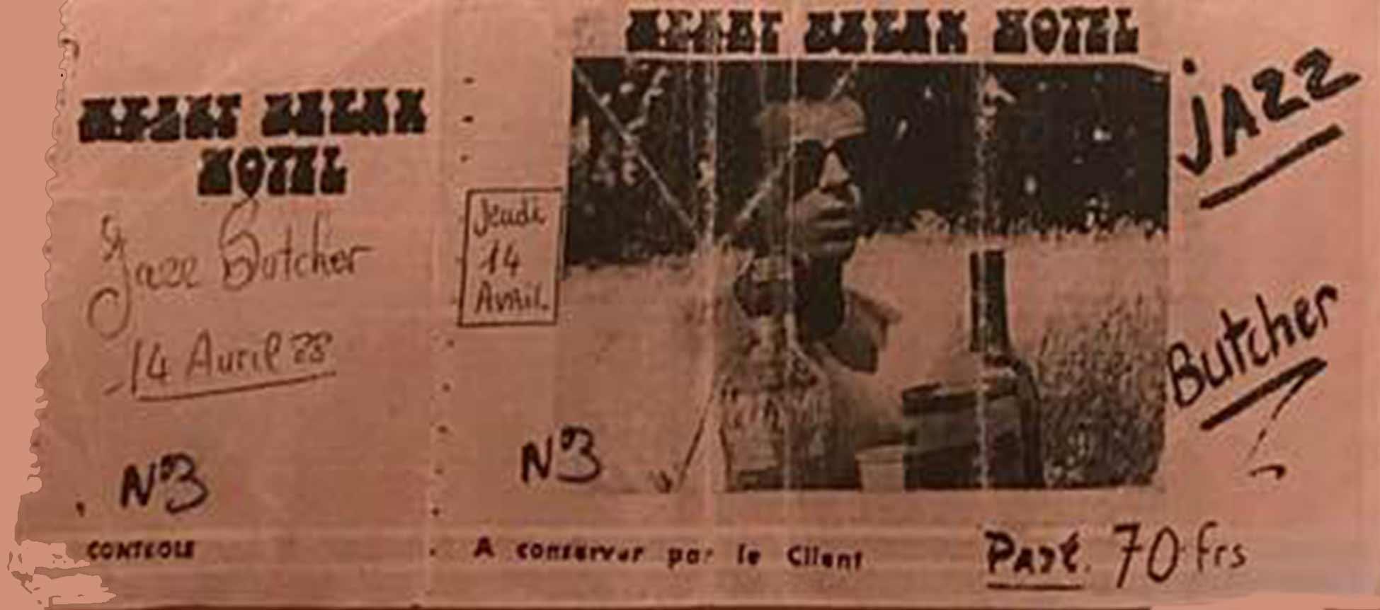 "14 avril 1988 Jazz Butcher à Sete ""Heartbreak Hotel"""